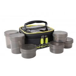 Geanta Momeala Matrix Mini Bait Bag + 6 Borcane, 17x17x9cm