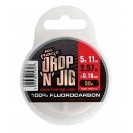 FIR FLUOROCARBON FOX RAGE DROP&JIG, 50M- 0,35MM
