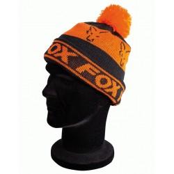Caciula Fox Black/Orange Lined Bobble