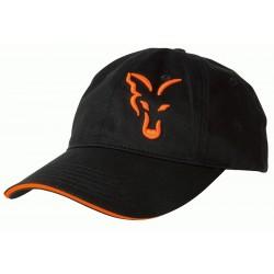 Sapca Fox Baseball Cap, Black/Orange