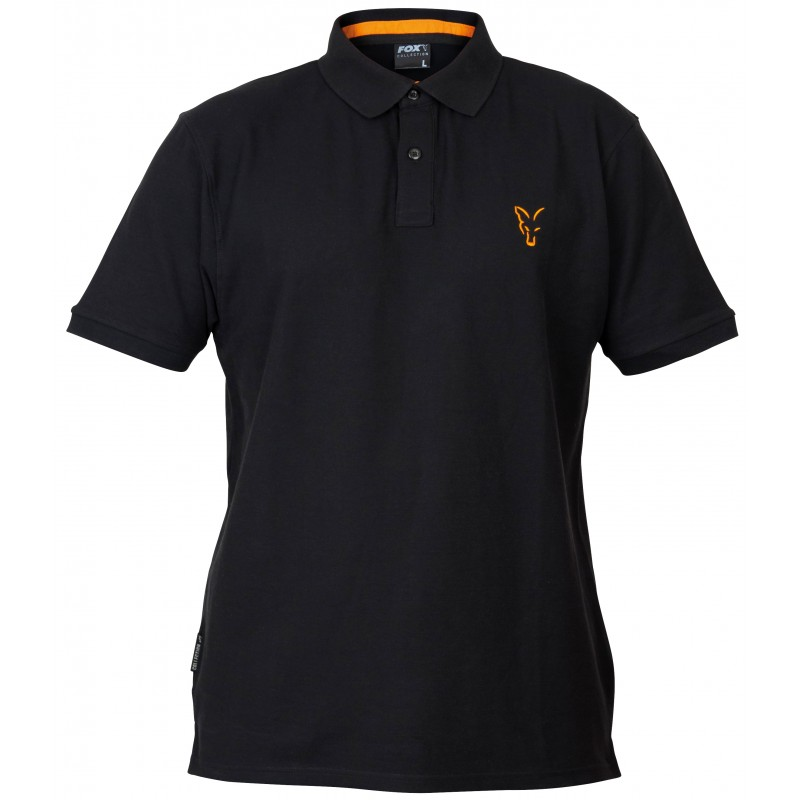 TRICOU POLO FOX COLLECTION ORANGE & BLACK