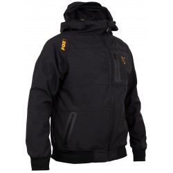 Jacheta Softshell FOX Collection Orange & Black Shell Hoodie