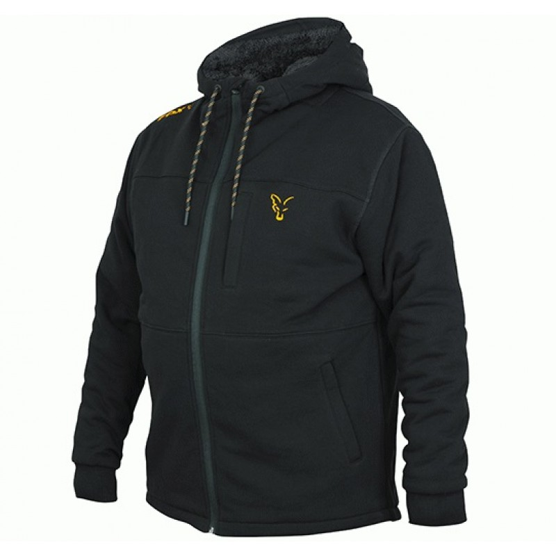 HANORAC FOX SHERPA HOODY, BLACK/ORANGE