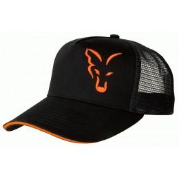 SAPCA FOX TRUCKER CAP, BLACK/ORANGE