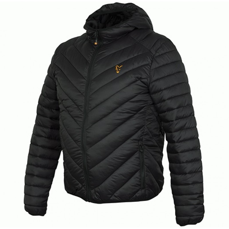 GEACA CU GLUGA FOX QUILTED JACKET, BLACK/ORANGE