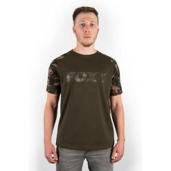 Tricou Fox Camo/Khaki Chest Print T-Shirt