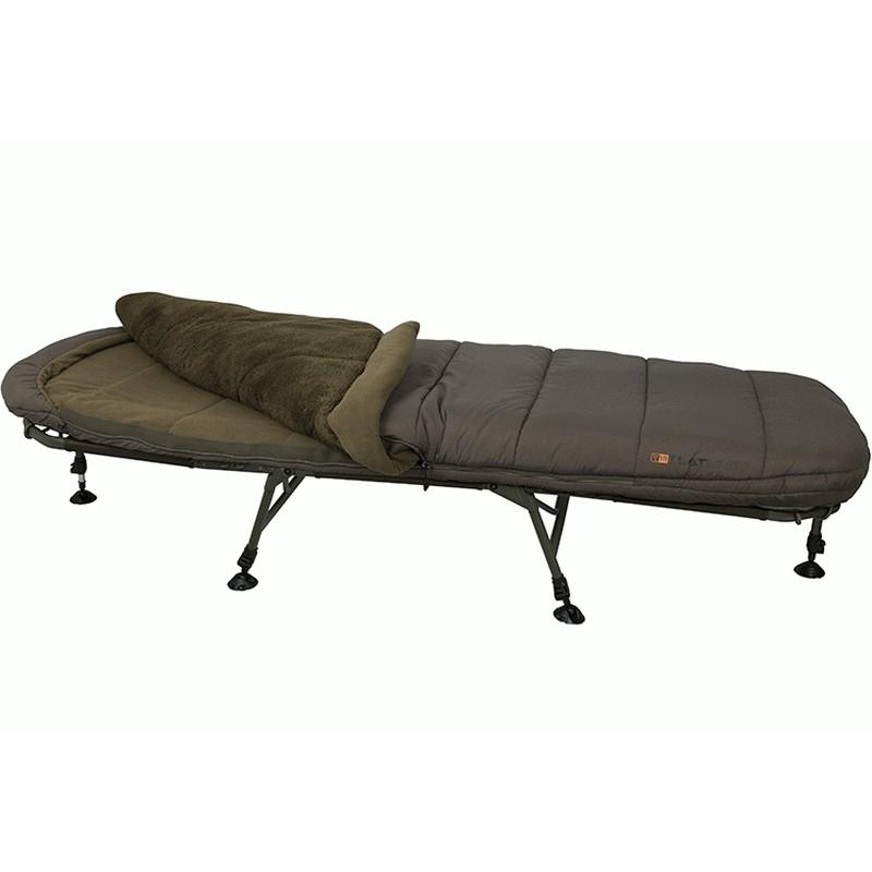 Pat Pescuit Fox Flatliner 5 Season Sleep System, 6 Picioare, 215x84cm