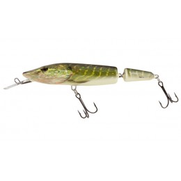 Vobler Salmo Pike Jointed Deep Runner, Real Pike, 13cm