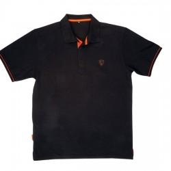 Tricou Polo Shirt Black/Orange